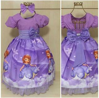 Vestido Super Luxo Princesa Sofia/sophia (tiara De Brinde)