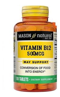 Enciclopedia Vitamina B12 500 Mcg 100tab