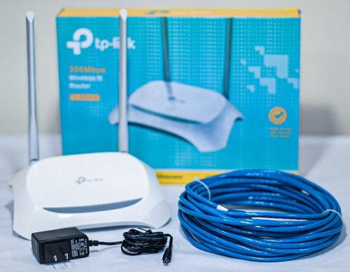 Imagen 1 de 2 de Router Inalambrico Tp Link Tl-wr841n 300mbps+cable De Red 10