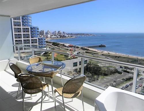 Apartamento, 2 Dorm, Punta Del Este, Playa Mansa, Alquiler- Ref: 226