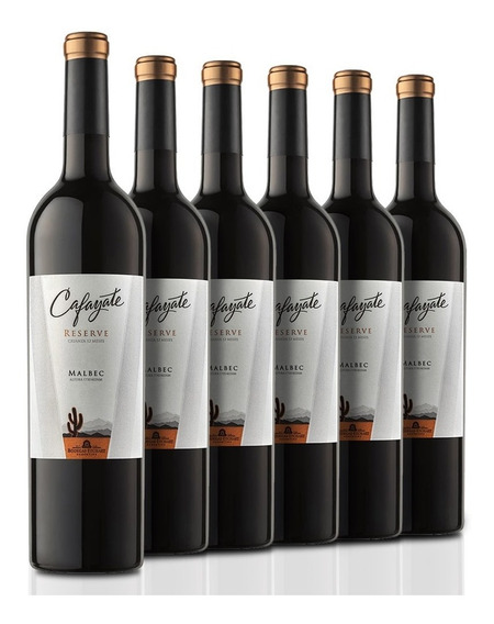 Caja De 6 Botellas De Vino Cafayate Reserve Malbec De 750 Ml