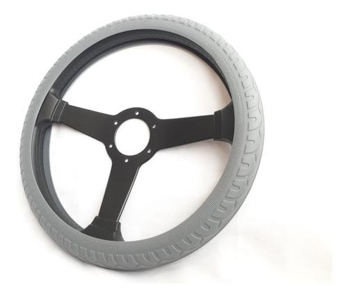 Forro Para Timon Cubre Volante Gris En Silicona 154