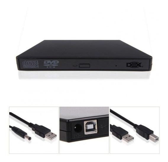 Gravador Dvd Cd Externo Usb 2.0 Slim Garantia E Nf Dg100