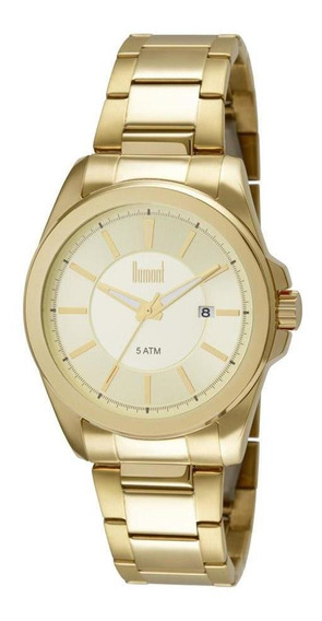 Relógio Masculino Dumont Berlim Dourado - Original