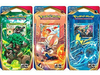 Pokemon Deck Ee1 Espada E Escudo Kit 3 Decks