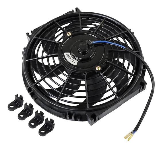 Ventoinha Ventilador Universal Elétrica 10 Polegada 12v 80w