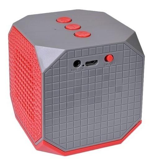 Caixinha De Som Portátil Bluetooth Blackweb Vermelha/cinza
