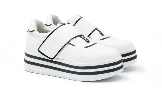 Zapatillas Mujer Deportivas Plataformas Abrojo Moda Art Nk-3