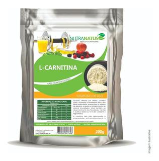 L- Carnitina Pura 200g Importada Termogênico Promoção