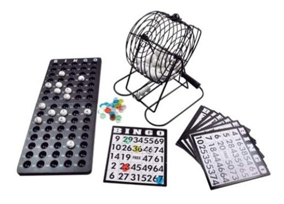 Jogo De Bingo Recreação Família Completo Globo Metal