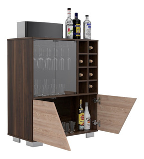 Bar Fraktal 2 Puertas Push To Open Miel / Habano Bmh 3506