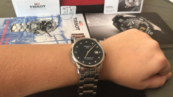 Relógio Tissot Powermatic 80 Chronometer 1853 Com 12 Diamant