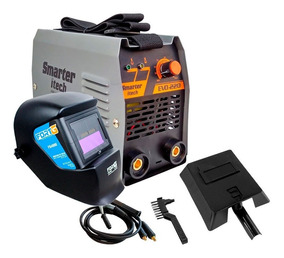 Kit Máquina Inversora De Solda 170a 220v Smarter Evo220c + M