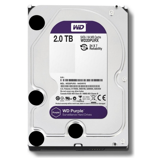 Hd 2 Tb Wd Purple Próprio Para Dvr Intelbras Luxvision Etc