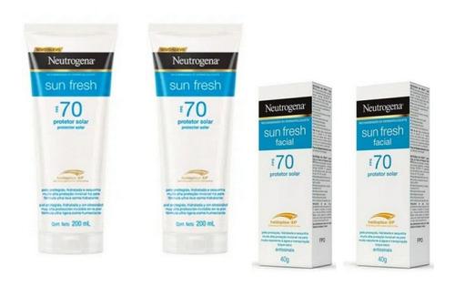 Kit Neutrogena Protetor Solar Fps70 200ml + Facial 40 Gramas