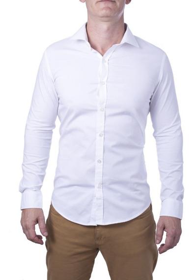 Camisa Social Masculina Da Fábrica Branca+preço+qualidade
