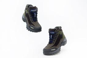 Botin Footwear Niño Discovery 11961 Nobuck Café Originales
