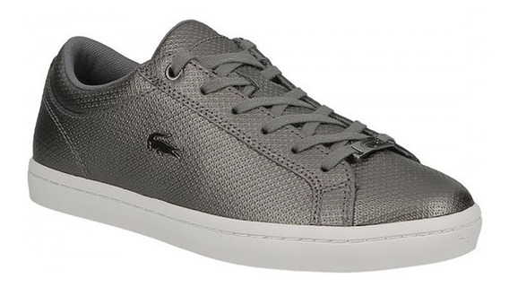 Zapatilla Lacoste Mujer Straightset 318 Gris