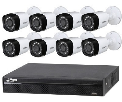 Kit Seguridad Dahua Dvr 8 Ch + 8 Camaras 1080p 2mp Exterior
