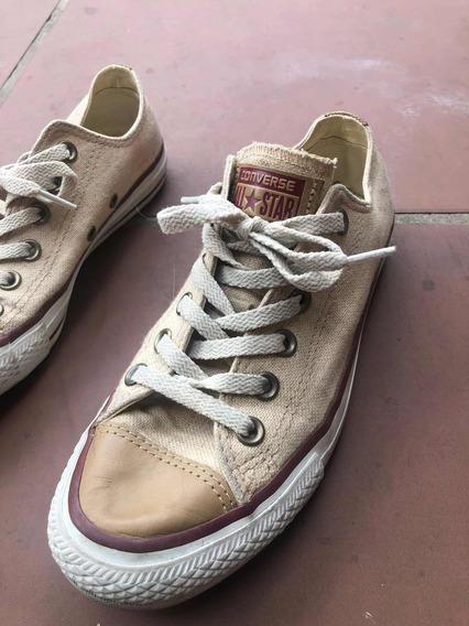 Zapatillas All Star Converse Natural Mujer Lino