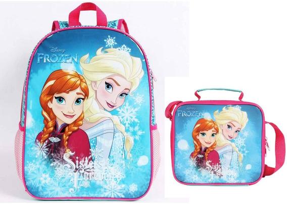 Kit Mochila Frozen+lancheira 51958 Original