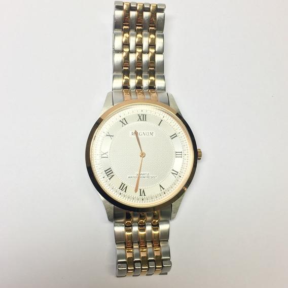 Relógio Magnum Prata E Dourado Masculino Usado