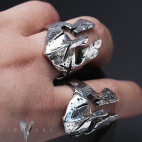 Anel Viking Amuleto Elmo Ajustável