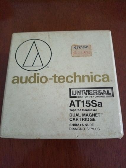 Cápsula Audiotechnica At15sa Com Agulha Original Shibatta