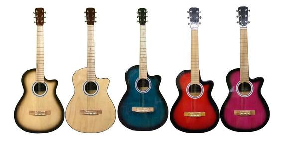 Guitarra Electro Acustica Acero Mic Contacto Musicapilar