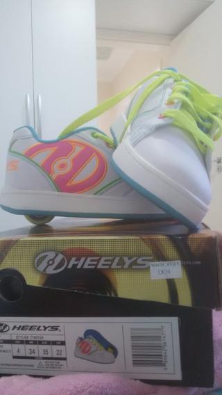 Tenis De Rodinhas Feminino Infantil 34 Heelys