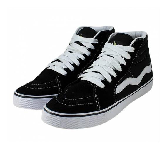 Tênis Skate Mad Rats Unissex Cano Alto Preto Sneakers