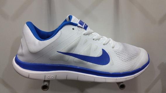 Zapatos Nike Free Run 4.0 Caballeros Blanco/azul 41-44 Eur