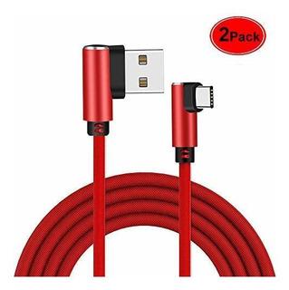 Angulo Recto Tipo C Cable Cable 2 Paquete 6 Pies 90 Grados C