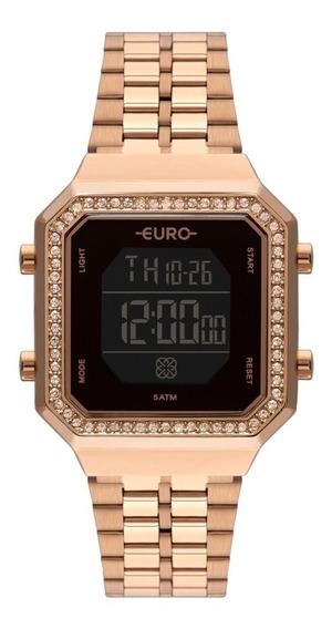 Relógio Feminino Rose Gold Quadrado Eubjk032aa/4p Original