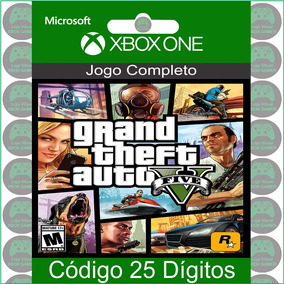 Gta 5 Grand Theft Auto 5 Xbox One Código 25 Dígito Microsoft