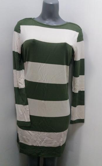 Vestidos Cortos Charming Charlie -rayas Verde / Beis-talla S