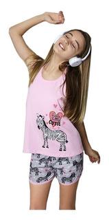 Pijama De Nena Verano So Little Cutie De So Pink 11523