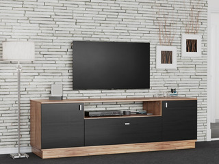 Mesa Tv Led 1.50 Mueble Rack Moderno Melamina Modular