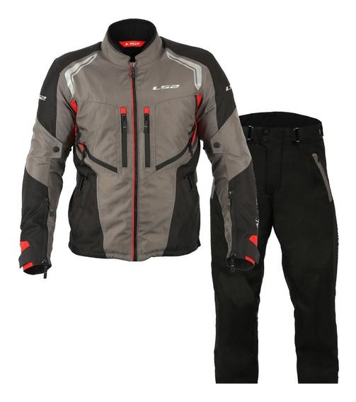 Conjunto Touring Jaqueta Calça Ls2 Gallant Impermeável