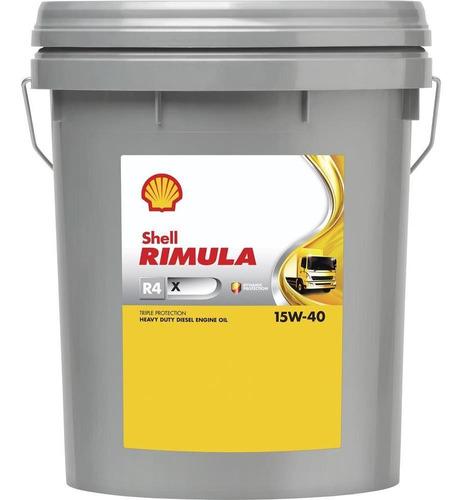 Imagen 1 de 2 de Aceite Motor Shell Rimula R4x 15w40 Ci-4 20 Lts Shell