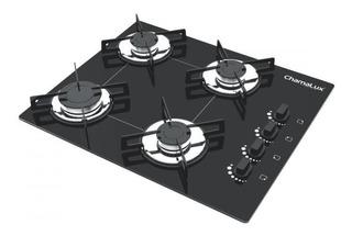 Fogão cooktop a gás Chamalux 4 Bocas Luana preto