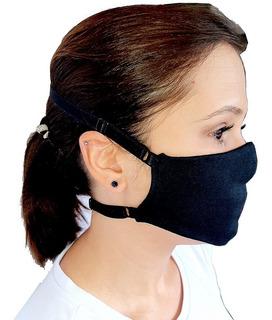 Máscara Tecido Lavável Elástico Regulável Não Machuca