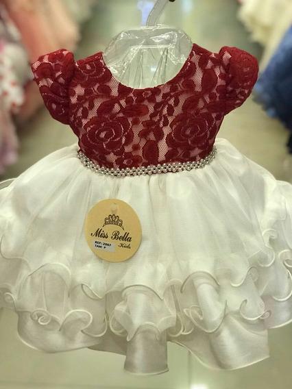 Vestido Bebê Marsala Bege Festa Casamento