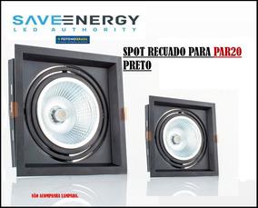 Kit 3 Spot De Embutir Recuado P/lampada Par20 Saveenergy