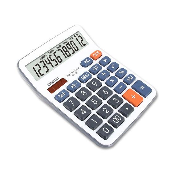 E Calculadora De Mesa Lcd De 12 Dgitos Solar-poweredosalo