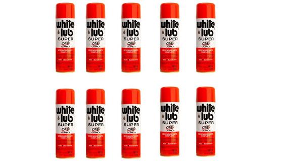 Kit 10 Oleo Desengripante White Lub Super 300ml Orbi Quimica