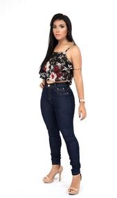Calça Jeans Feminina Com Lycra Levanta Bumbum