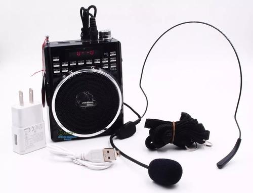 Parlante Microfono Altavoz Radio Bluetooth Usb + Obsequio