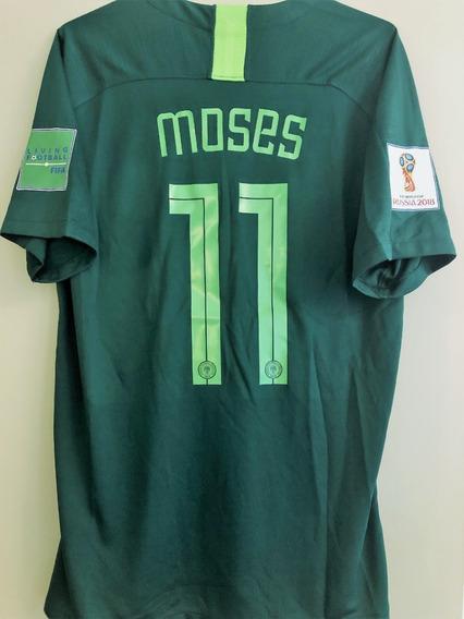 Camisa Nigéria Copa Do Mundo 2018 Moses #11 Vs Argentina