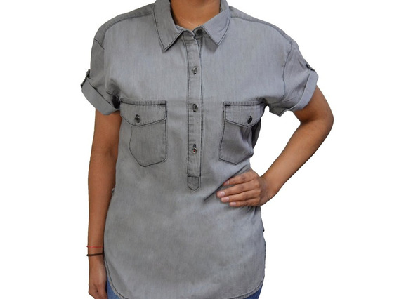 Camisa De Dama Manga Corta - Cat - M2610228-s